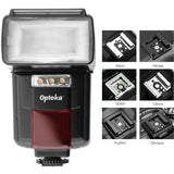 Opteka Flash IF-800 Autofocus Speedlight with Built-In 3-LED Video Light for DSLR Cameras