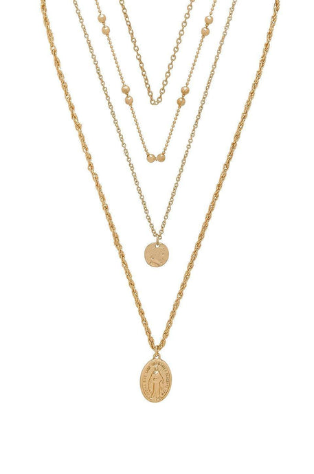 Hail Mary Necklace in Gold