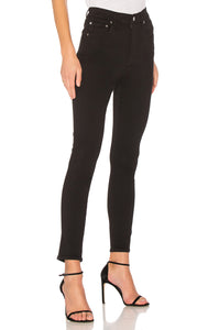 Roxanne Super High Rise Skinny Denim in Jet