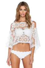 Load image into Gallery viewer, White Sands Lace Crop Top - Kustom Label - 1