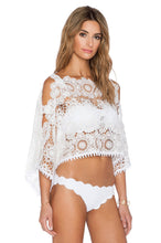 Load image into Gallery viewer, White Sands Lace Crop Top - Kustom Label - 2