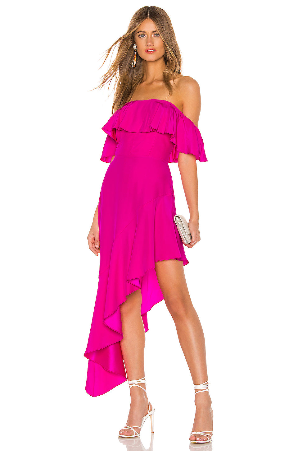 Camellia Maxi Dress in Hot Pink Light