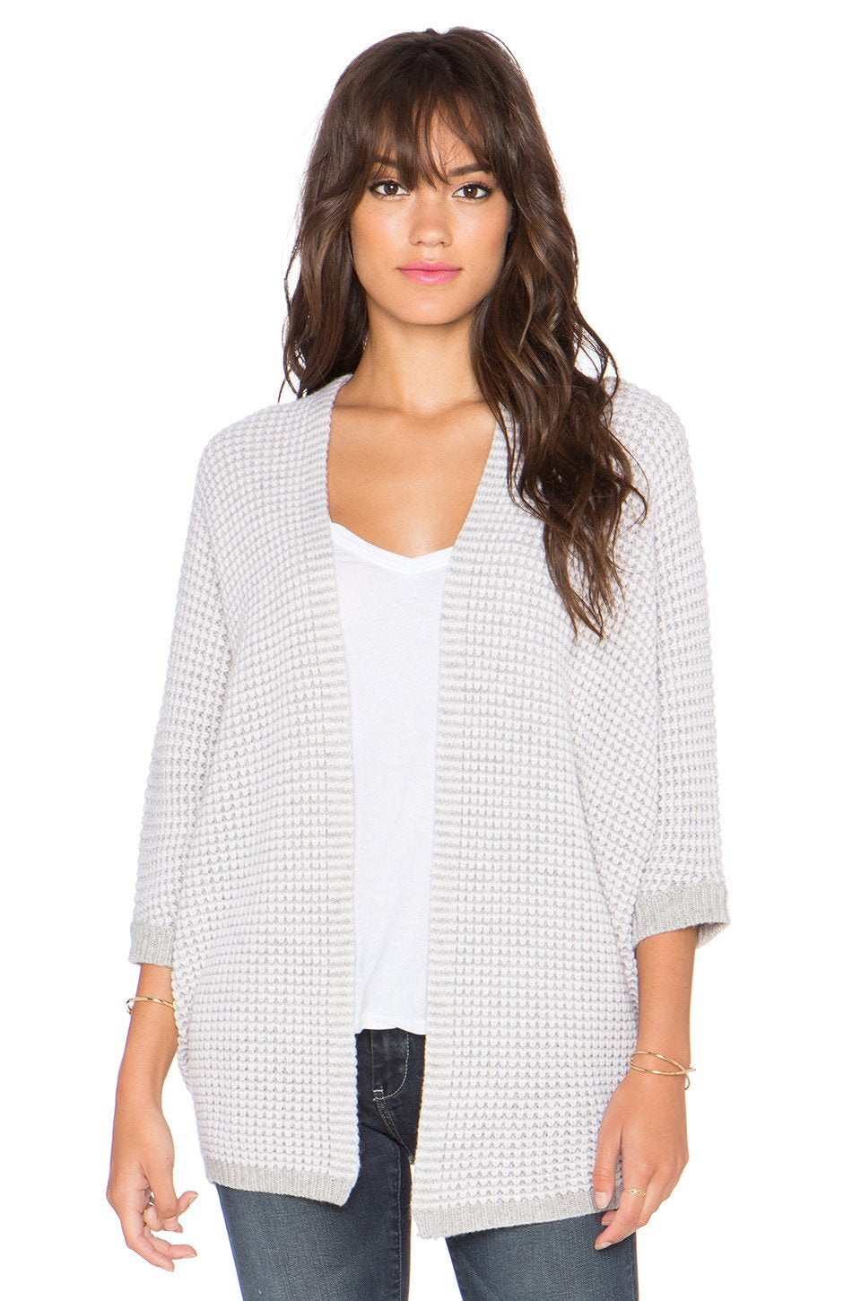 Two Tone Open Dolam Cardigan - Kustom Label - 1