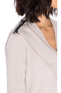 Zip Shoulder Cowl Sweater - Kustom Label - 4