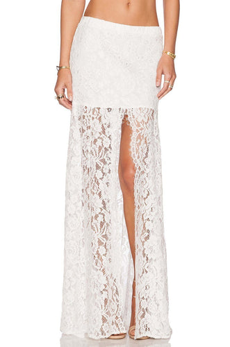 Micah Lace Skirt in White