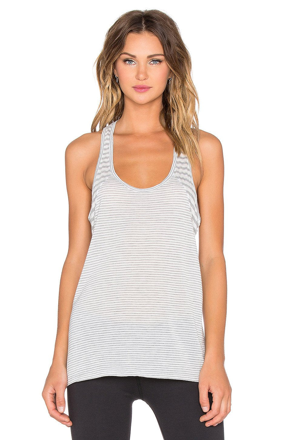 Sailing Stripe Double Racer Tank - Kustom Label - 1