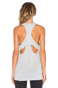 Sailing Stripe Double Racer Tank - Kustom Label - 2