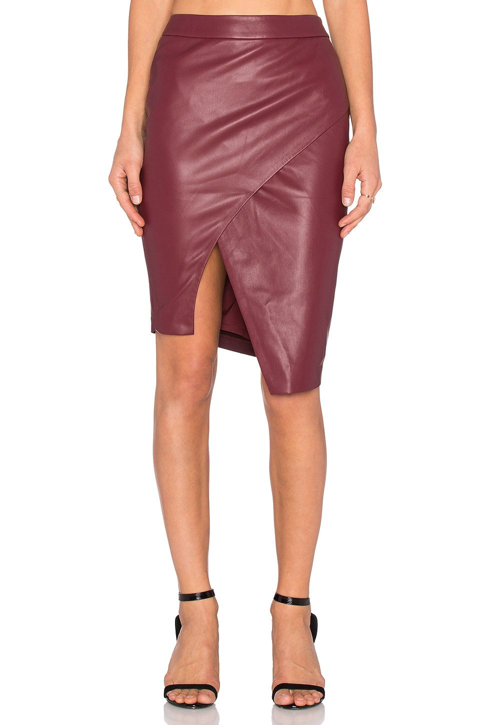 Asymmetrical Leather Skirt - Kustom Label - 1