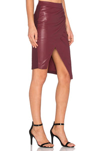 Asymmetrical Leather Skirt - Kustom Label - 2