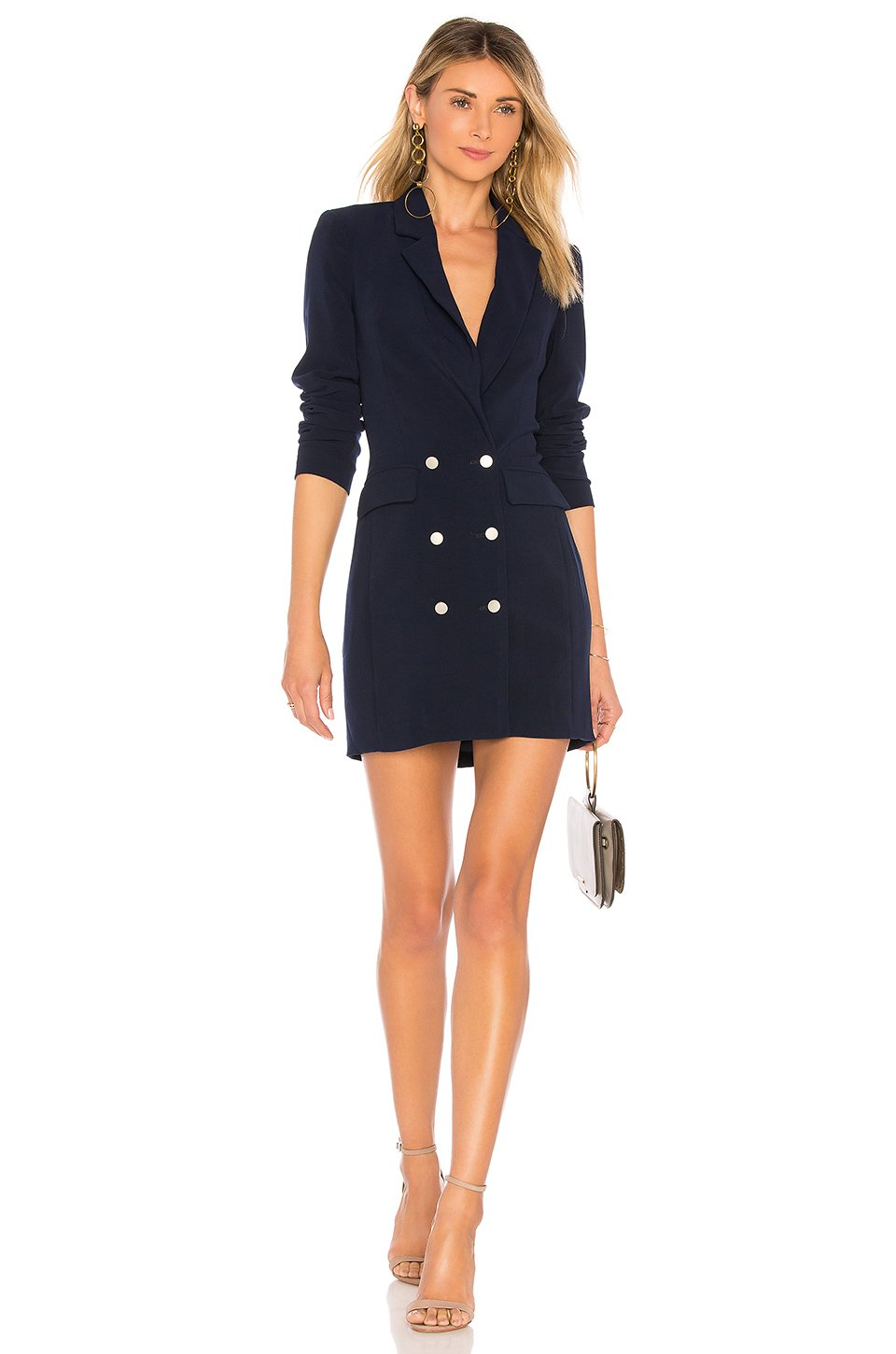 Madeline Blazer Dress in Navy