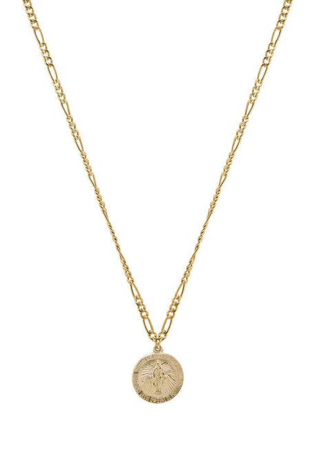 Pray For Us Mary Necklace in Gold