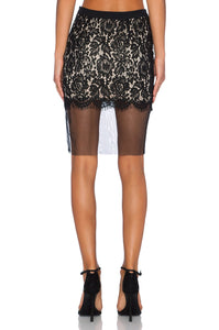 Lace Panel Skirt - Kustom Label - 3
