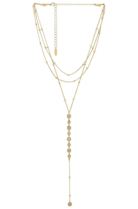 Layered Drop Lariat in Gold