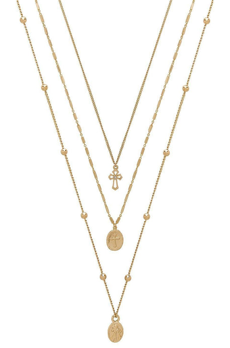 Single Charmer Necklace Set in Gold
