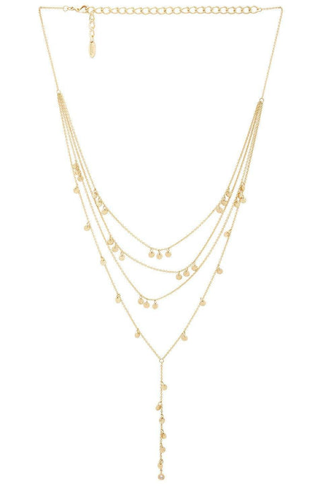 Crystal Droplets Lariat in Gold