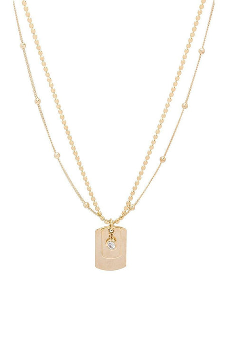 Layered Pendant Necklace in Gold