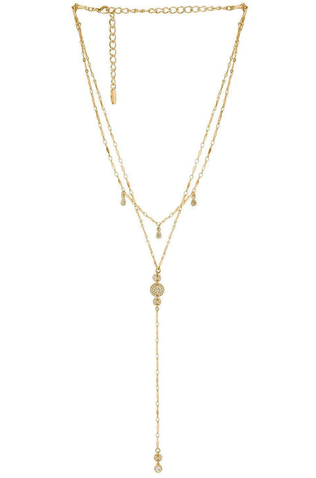 Long & Layered Lariat Necklace in Gold