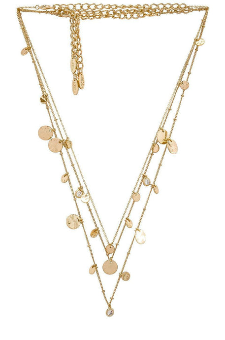 Mini Disc Lariat in Gold