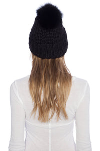 Rain Beanie With Fox Fur - Kustom Label - 2