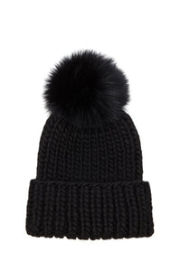 Rain Beanie With Fox Fur - Kustom Label - 3