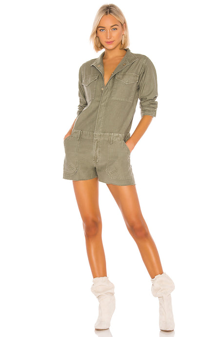 Service Shortall Romper In Military