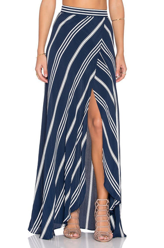 Wrap It Up Skirt in Sapphire Stripe