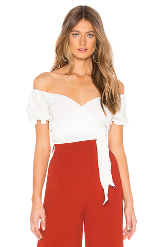 Annabelle Cropped Top In White