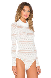 White Knit Bodysuit - Kustom Label - 2