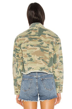 Load image into Gallery viewer, Camo Printed Denim Jacket in Botanical Combo