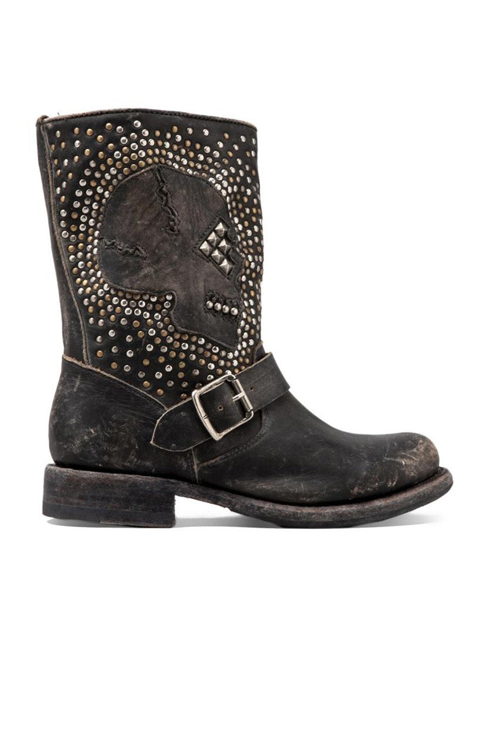Jenna Skull Stud Short Boot - Kustom Label - 1
