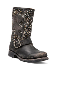 Jenna Skull Stud Short Boot - Kustom Label - 4