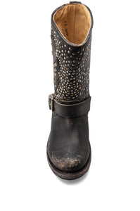 Jenna Skull Stud Short Boot - Kustom Label - 3