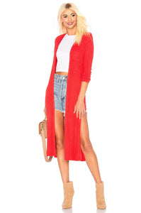 Davenport Cardigan in Red