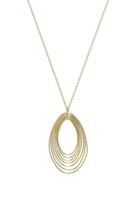 Presley Adjustable Pendant Necklace in Gold