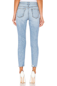 Karolina High-Rise Skinny Denim in Speedway