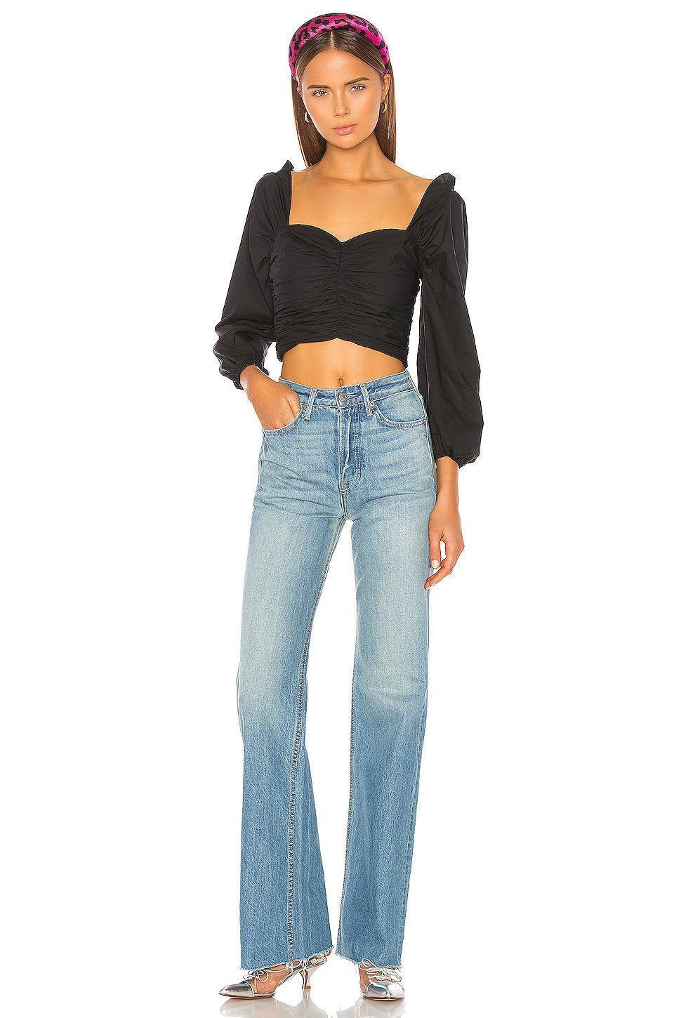 Carla High-Rise Denim in Other Side