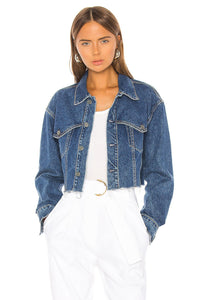 Faye Denim Jacket in Fast Lane