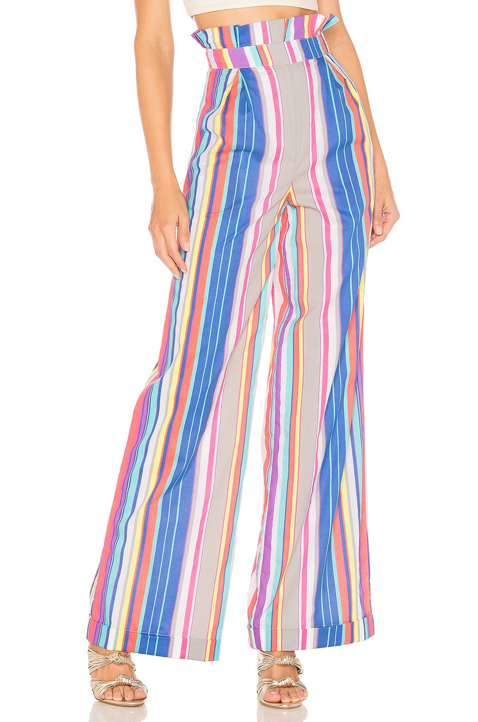 Yvonne Rainbow Pant in Multi Stripe