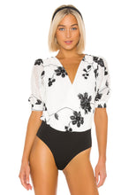 Load image into Gallery viewer, Nora Bodysuit in White & Black