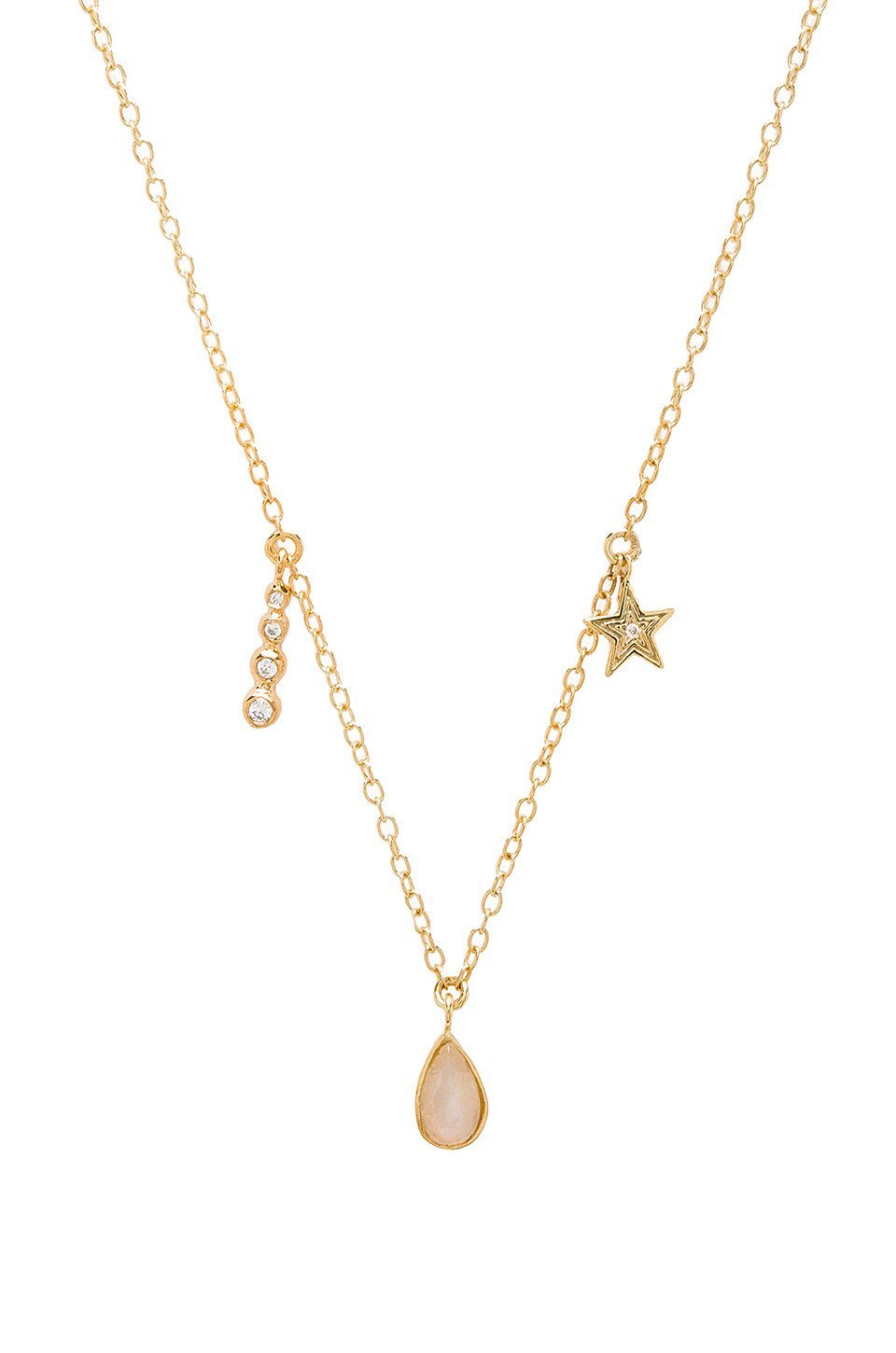 Moonstone Teardrop Necklace - Kustom Label - 1