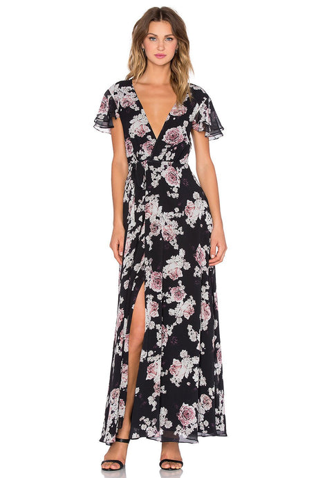 Rosa Floral Maxi Dress - Kustom Label - 1