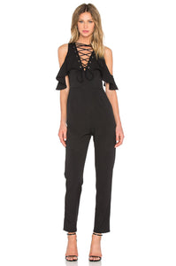 Lace Up Jumpsuit - Kustom Label - 1