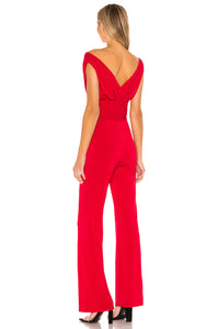 Croft Jumpsuit in Carmine Red