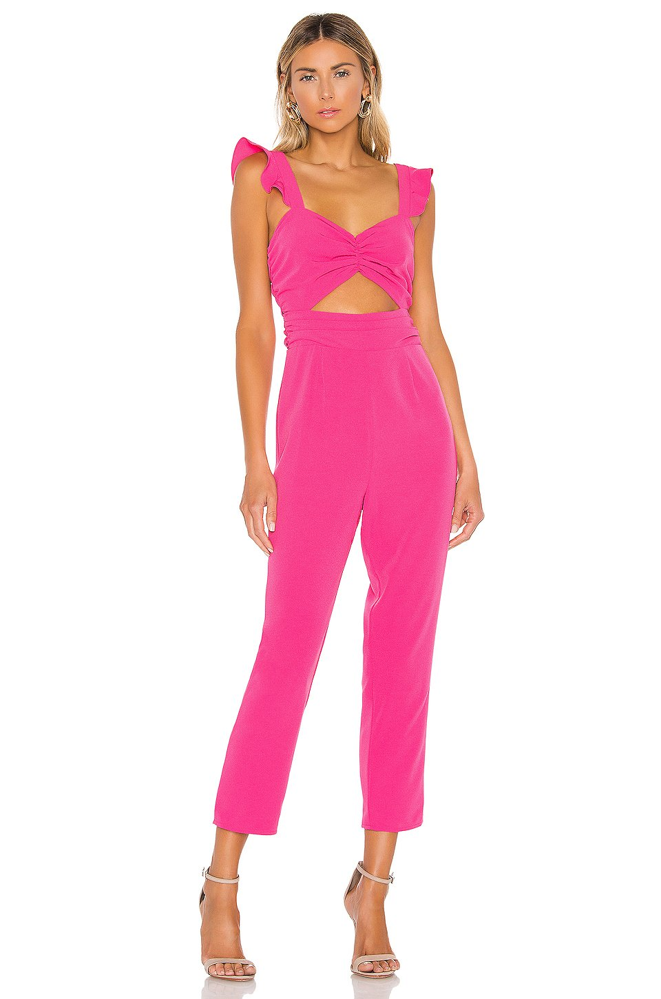 Knox Jumpsuit in Hot Pink