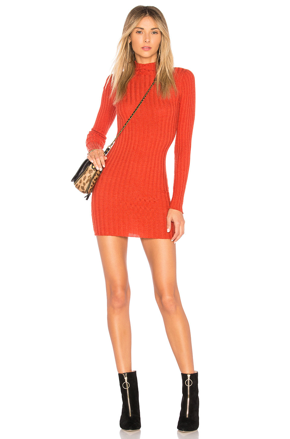 Be Fierce Mini Dress in Neon Orange