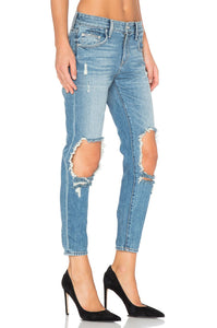 Ezra Cropped Slim Boyfriend Jean - Kustom Label - 3