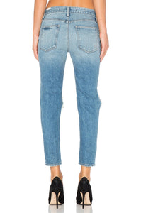 Ezra Cropped Slim Boyfriend Jean - Kustom Label - 2