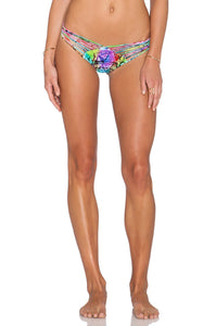 Sea Salt  Angel Strappy Brazilian Bikini Bottom - Kustom Label - 1