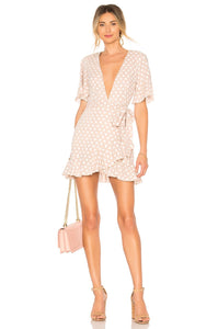 Portia Mini Dress In Taupe