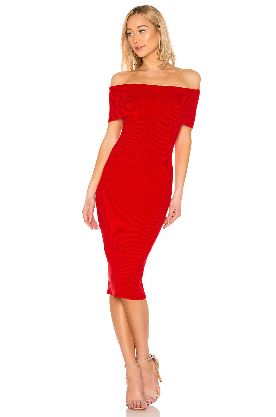 Lulu Midi Dress in Red